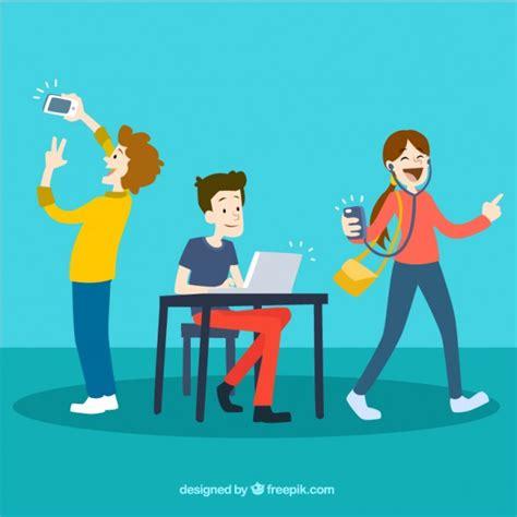 imagenes de adolescentes usando redes sociales adicciones fotos y vectores gratis