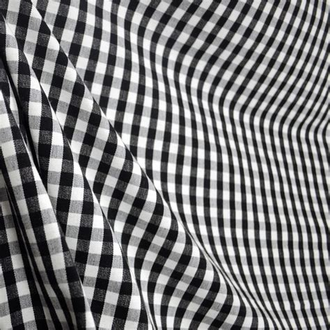 Dc41 Chester Black White Check Plaid Fabric Traditional