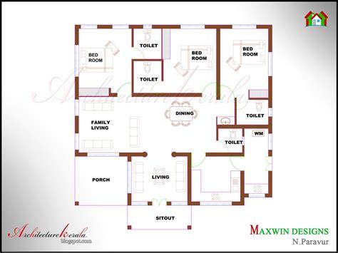 architecture kerala  bhk single floor kerala house plan