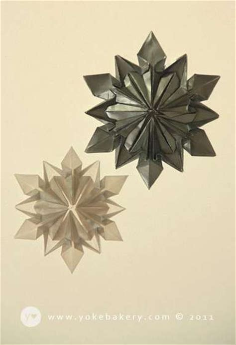 Simple Origami Snowflake - origami snowflake trees origami paper and tis