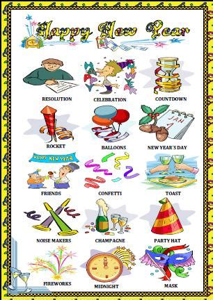 new year picture dictionary new year worksheet