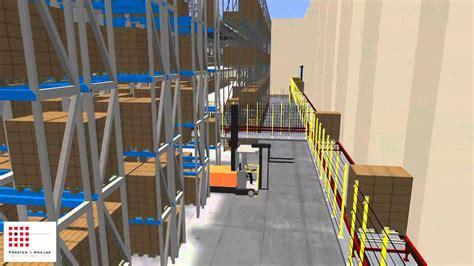 class warehouse layout and simulation 3d simulation warenhaus mit dem taravrbuilder von