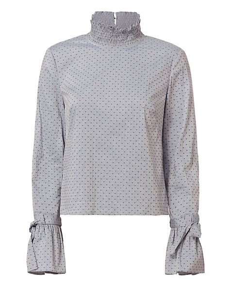 Tesco Dotted Swiss Smock Top by Exclusive For Intermix Iris Swiss Dot Top Shop