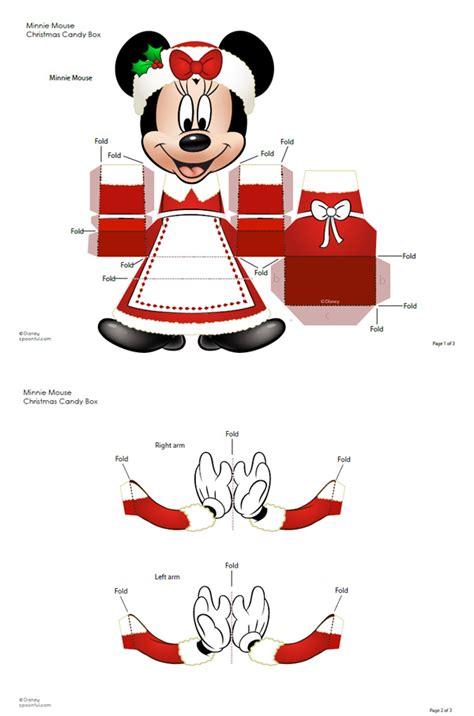 Disney Papercraft Templates - 789 minnie disney paper template bo 238 te cadeau minnie