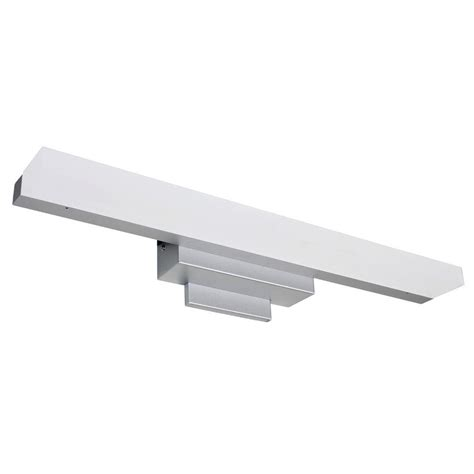 led bathroom vanity light vonn lighting procyon collection 23 in silver nickel low