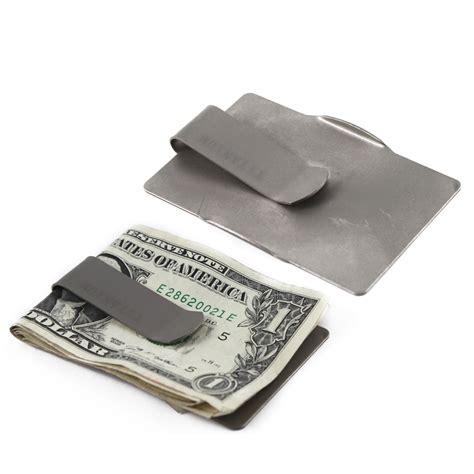 titanium money clip universal heavy duty strong lightweight sleek titanium