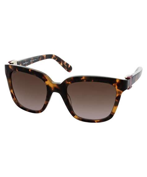 Sunglass Salvatore Ferragamo Coklat salvatore ferragamo salvatore ferragamo s sf782s 52mm sunglasses bluefly