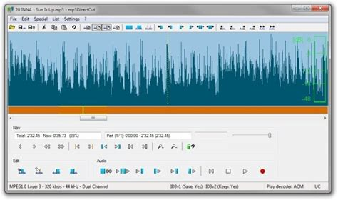 to cut a mp3 mp3directcut easily record edit trim mp3 create audio