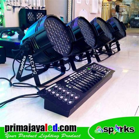 Paket Lu 2 Par 54 Led Rgbw Mixer Dmx 512 1 paket set 4 par freshnel dmx prima jaya led