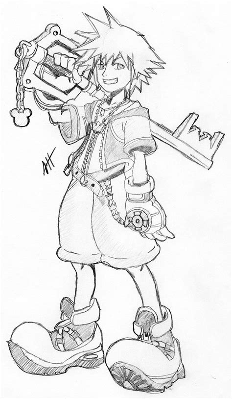 Free Printable Kingdom Hearts Coloring Pages For Kids Kingdom Hearts Coloring Page