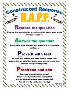 Constructed Response Briefformat 25 Best Ideas About Constructed Response On Test Text Evidence Anchor Chart And