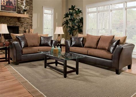 brown sofa and loveseat sets living room furniture sets chicago indianapolis the