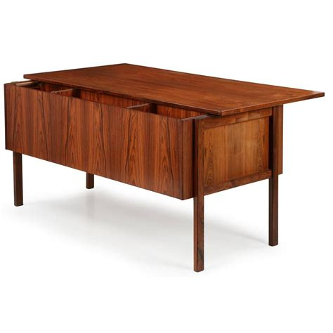 mid century modern rosewood executive desk with