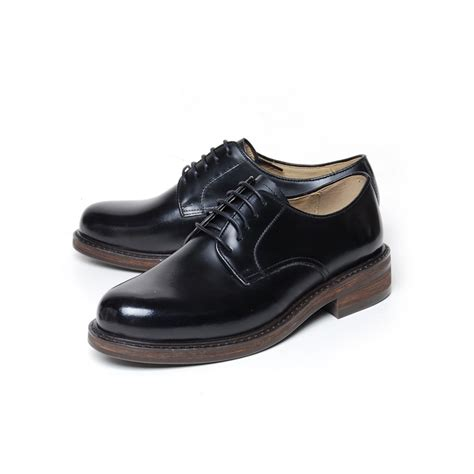 lacing oxford shoes s plain toe black leather open lacing oxford shoes