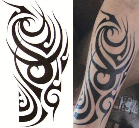 fake tribal tattoo sleeves tough tribal sleeve tattooforaweek temporary