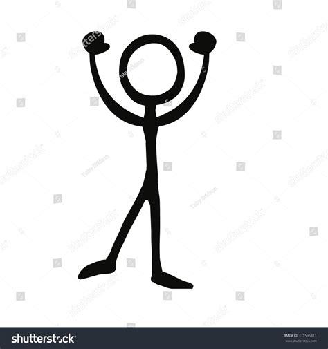 figure images stick figure celebration cheer stock vector 331595411