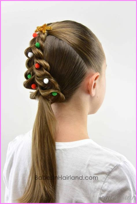 christmas tree girls hair do pretty tree hairstyle that s easier to do than it looks stylesstar