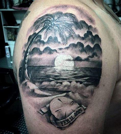 tattoo arm beach upper arm sand dollar beach tattoo for men yippp
