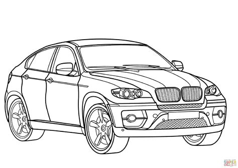 bmw x6 outline for coloring printable coloring pages