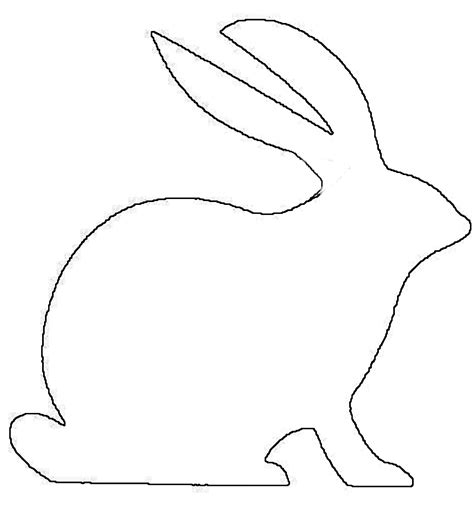 printable animal outlines bunny outline printable clipart best