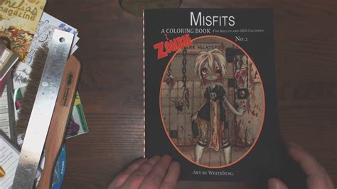misfits a coloring book misfits a zombie coloring book vol 2 youtube