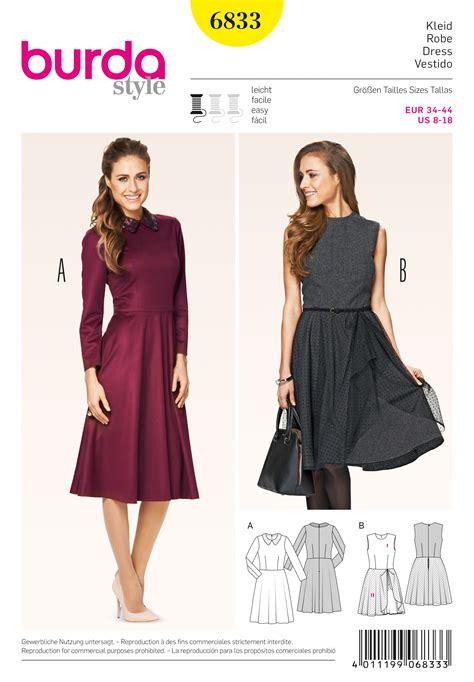 pattern dress burda burda 6833 dresses