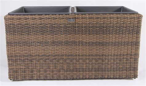 Resin Wicker Planter Boxes by New Large Square Resin Wicker Planter With 2 Plastic