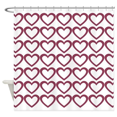 cranberry colored curtains cute cranberry hearts shower curtain by technotextnl