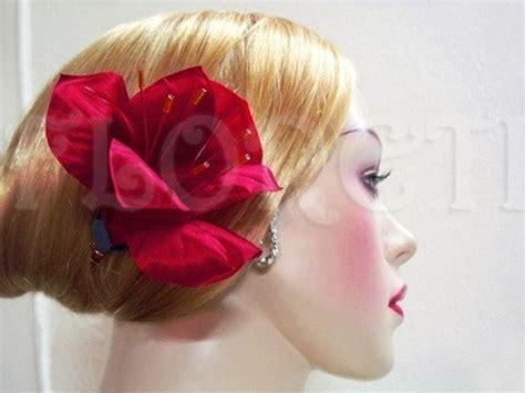 Feather By Amaryllis luxury hair accessory silk amaryllis hair clip fascinator