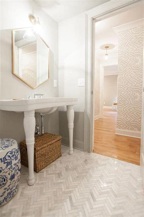Small Tiled Bathrooms Ideas double parisian pedestal sink design ideas