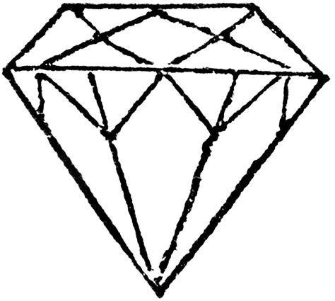 free coloring pages of diamond draw