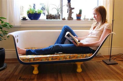 clawfoot tub made into sofa 17 couches made from repurposed materials