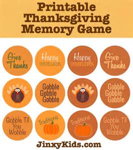 Thanksgiving Crafts For Kids To Make - free printable thanksgiving memory game jinxy kids