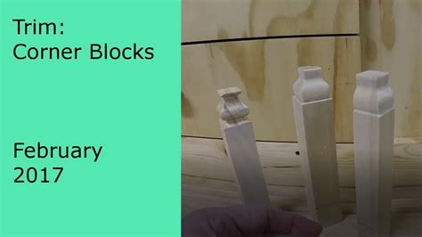 Trim Baseboard diy making your own corner blocks and trim youtube
