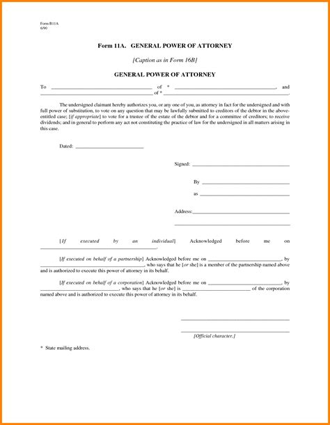 free general power of attorney template 8 free printable general power of attorney ledger paper