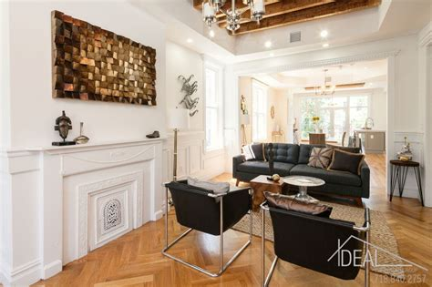 bushwick living room 1 5m bushwick townhouse charms with its blend of modern and historic 6sqft