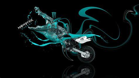 neon motocross monster energy kawasaki crocodile bike 2014 el tony