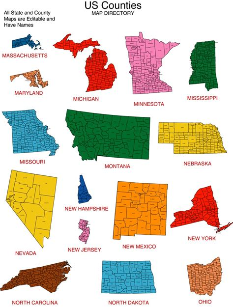 map of united states showing individual states maps for design editable clip powerpoint maps may 2010