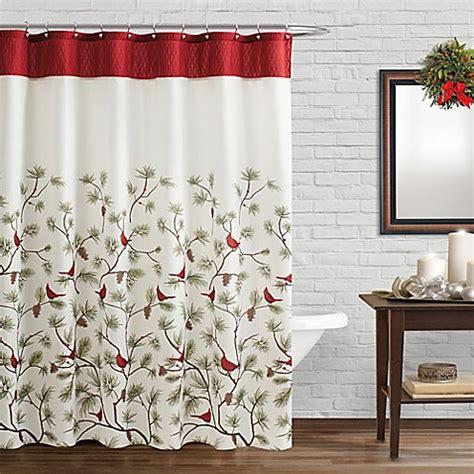 cardinal shower curtain saturday knight snow cardinals shower curtain and hook set