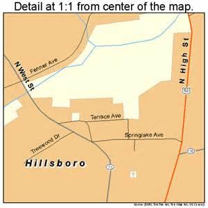 hillsboro ohio map 3935560