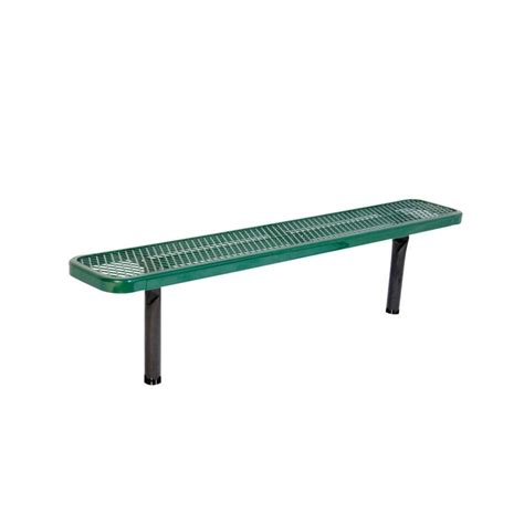 commercial park benches ultra play 6 ft diamond green in ground commercial park