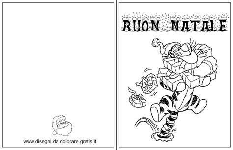 auguri di natale da colorare con tigro di winnie the pooh