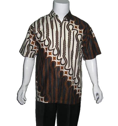 Baju Batik Parang Brown baju batik pria motif parang modern batik sekar