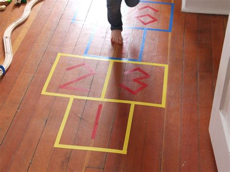 Diy Indoor Games | diy indoor hopscotch game