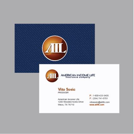 american commerce insurance company card template american income business cards images business card