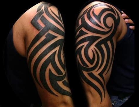 strength tribal tattoo cool tribal tattoos meaning strength and courage