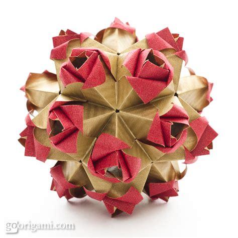 Origami Flower Kusudama - roses kusudama diagram