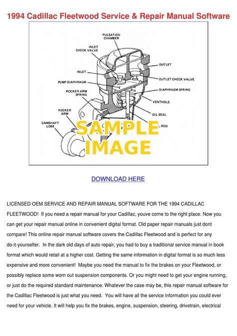 service repair manual free download 1992 cadillac fleetwood free book repair manuals 1994 cadillac fleetwood service repair manual by lisaleyva issuu