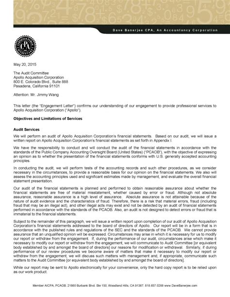 engagement letter overview benefits format