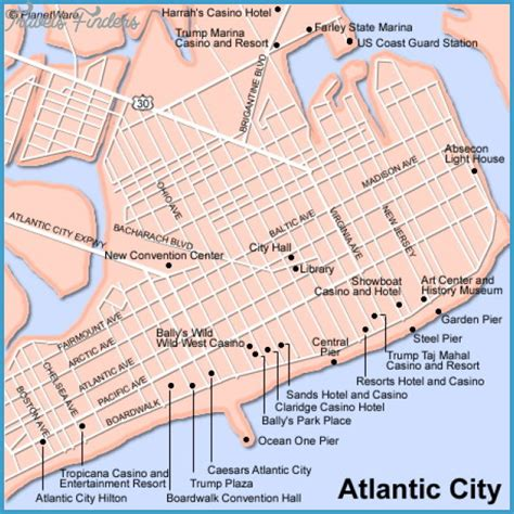 atlantic city casinos map jersey city map tourist attractions travelsfinders